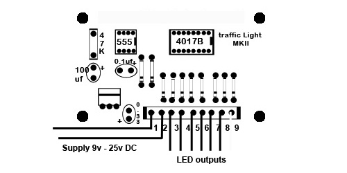Modell Rail / Modell Railway Traffic Light Control Circuit