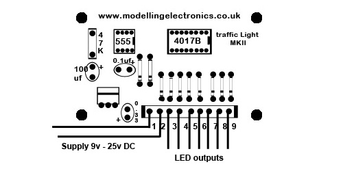 2 / 4 Way Traffic Light Control Circuit