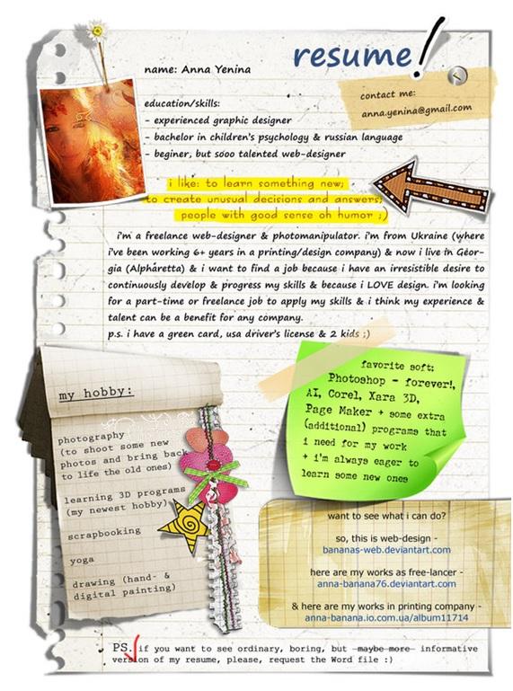 Curriculum Creativo Grafico Modello Curriculum