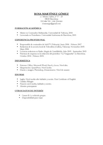 Modelo Curriculum Vitae No Documentado Simple Job Application