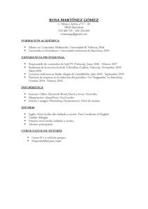 Modelo Curriculum Vitae No Documentado Simple Job Application