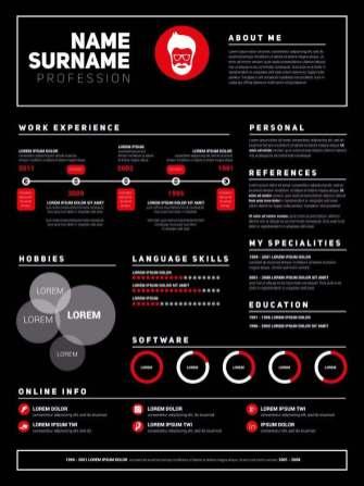 Plantillas de currículum con infografía | Modelo Curriculum