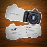 Tarjeta de presentación creativa para fotógrafos