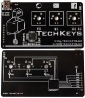Tarjeta de presentación innovadora con forma de teclado