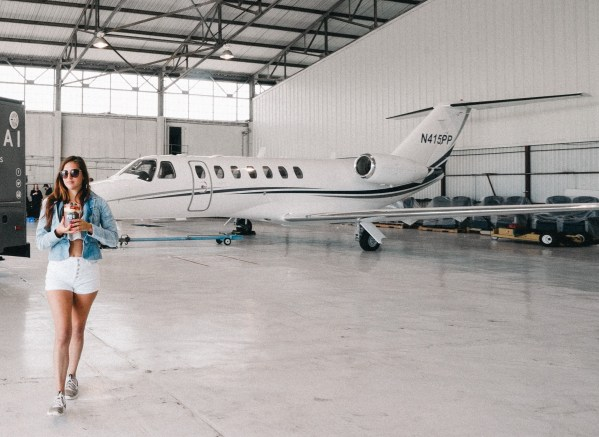 private jet, business class