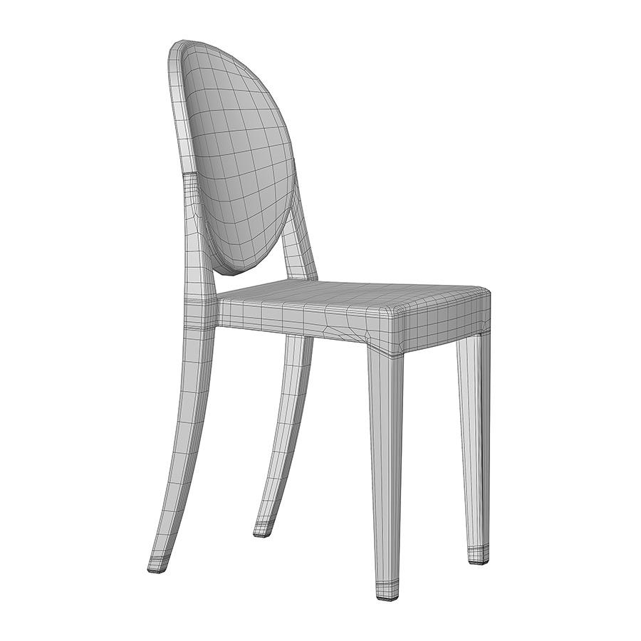 victoria ghost chair paris bistro chairs outdoor kartell 3d model 0245