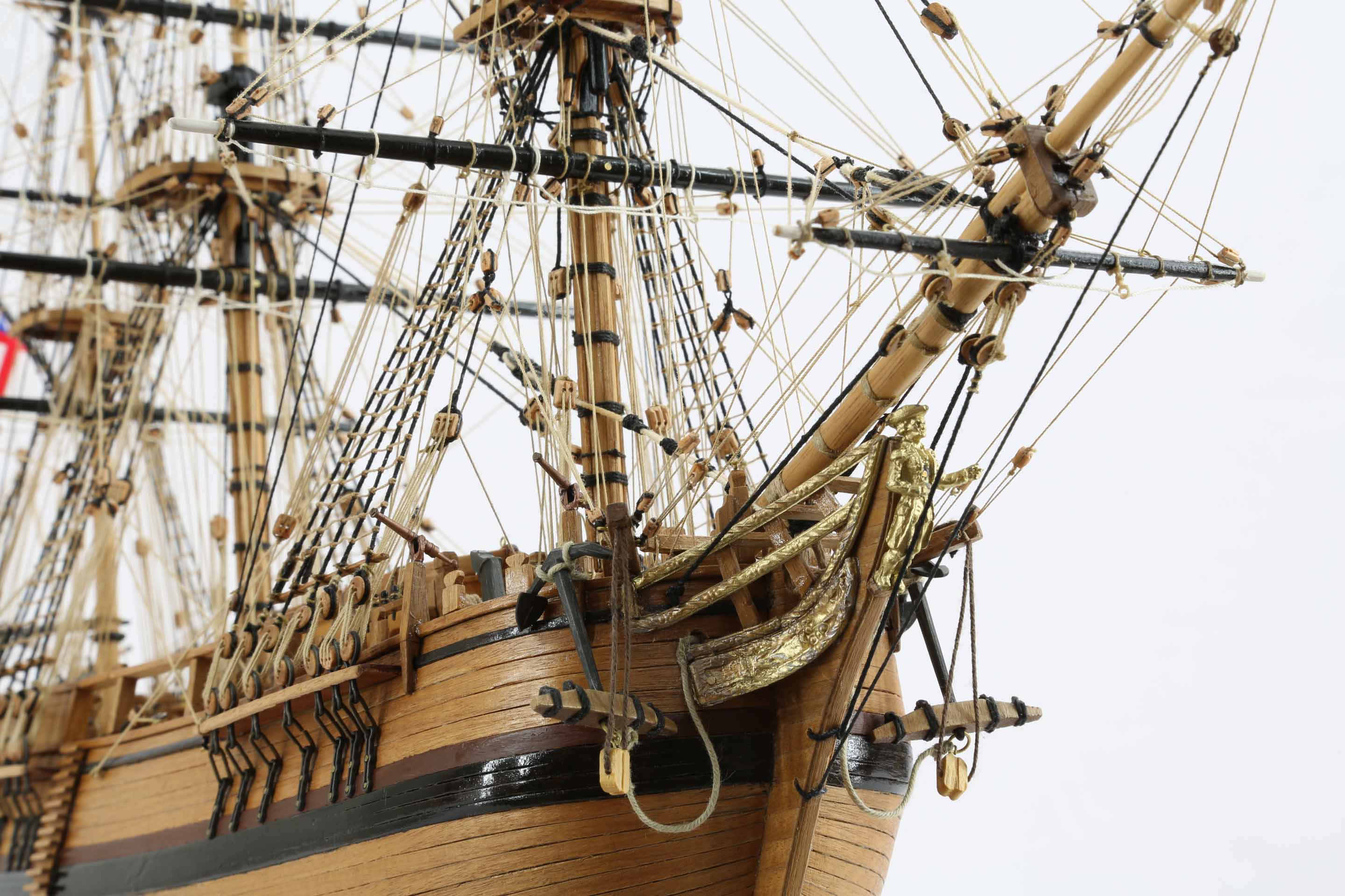 Close Up Photos Of Ship Model Hms Bounty Of 1784