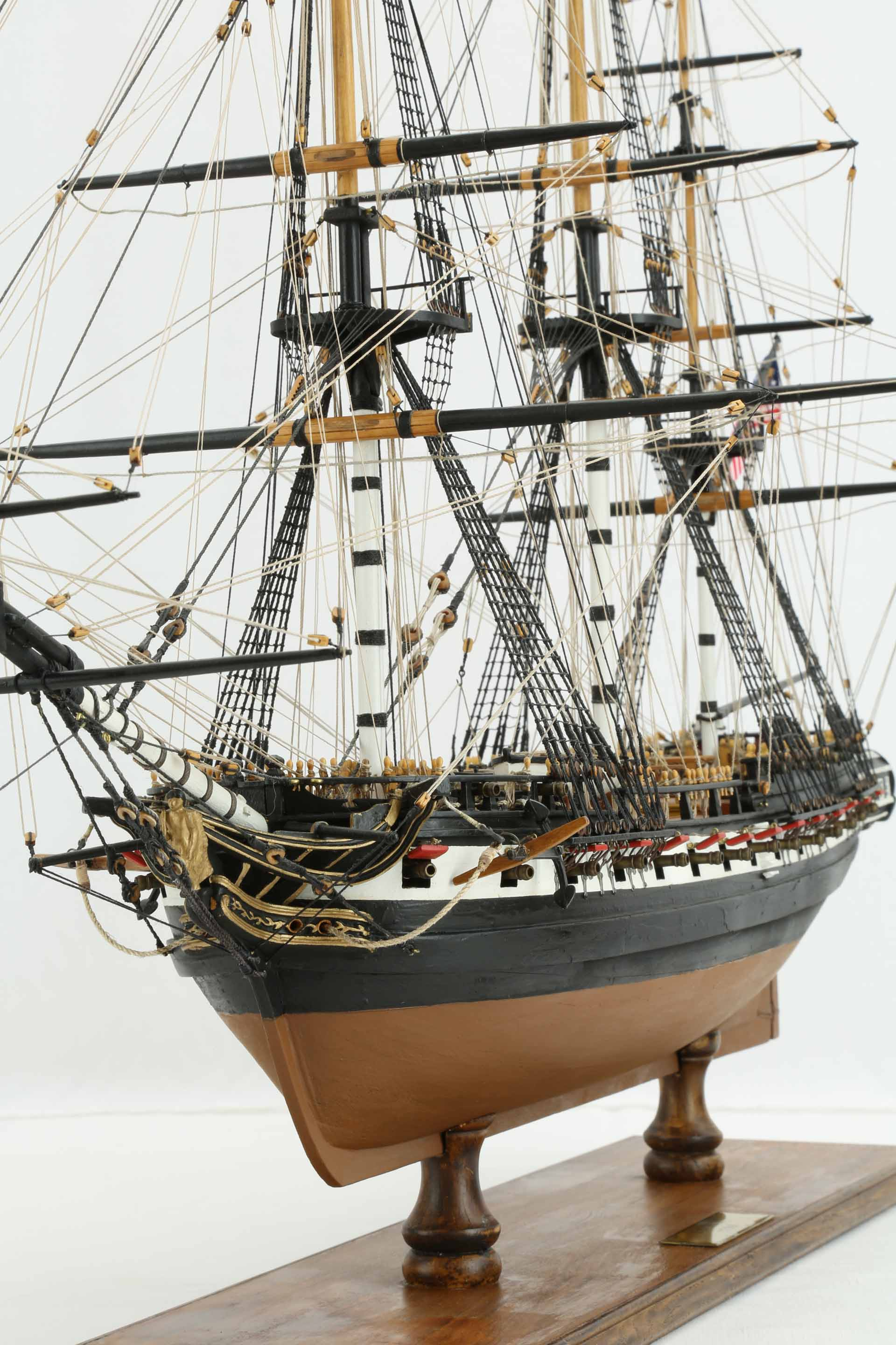 Photos Ship Model American Frigate Essex Of 1799 Views Of