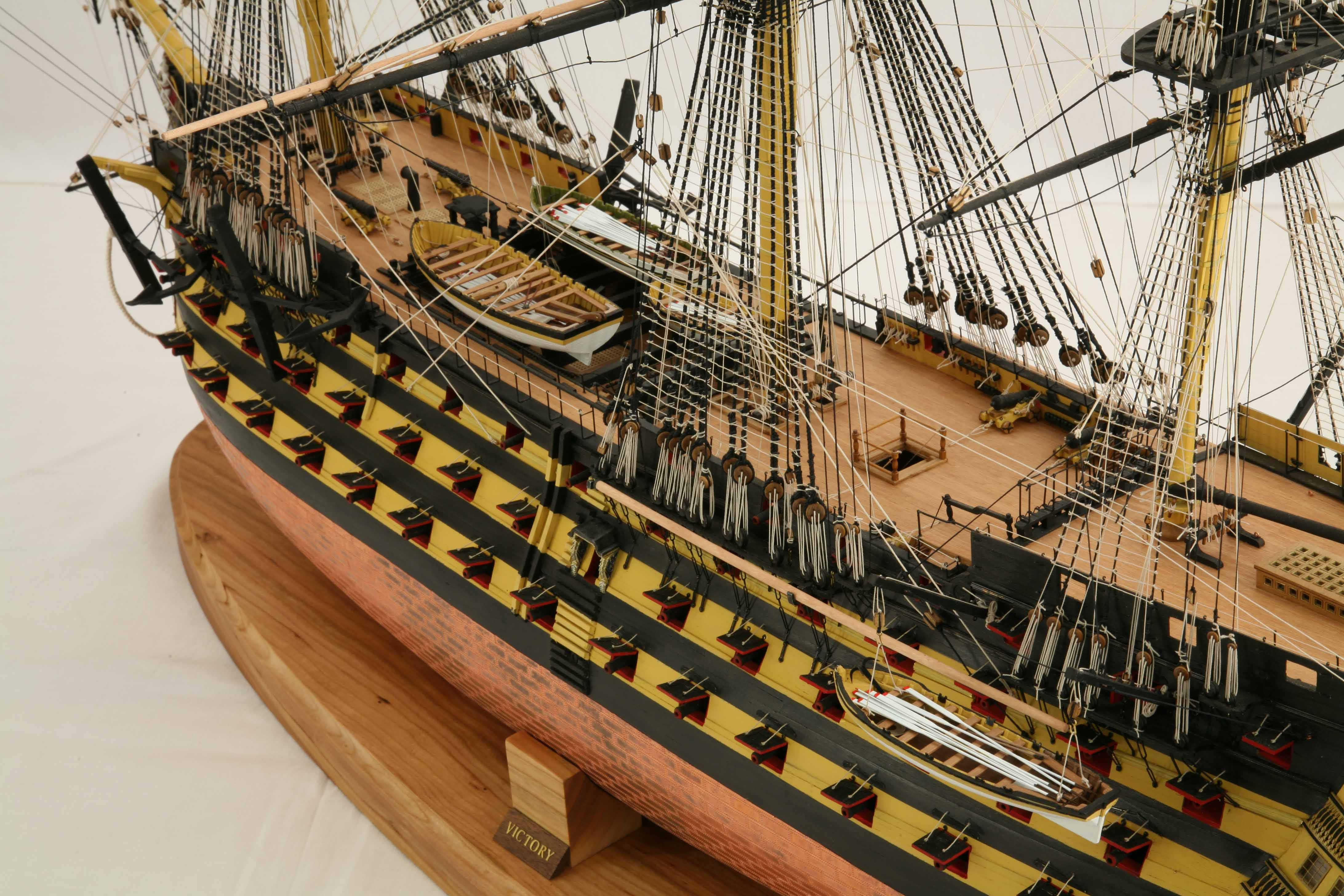 Closeup photos of model HMS Victory 1  72 scale