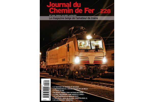 Cover Journal du chemin de fer 228 editie april-mei 2019