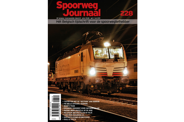 Cover Spoorwegjournaal 228 editie april-mei 2019