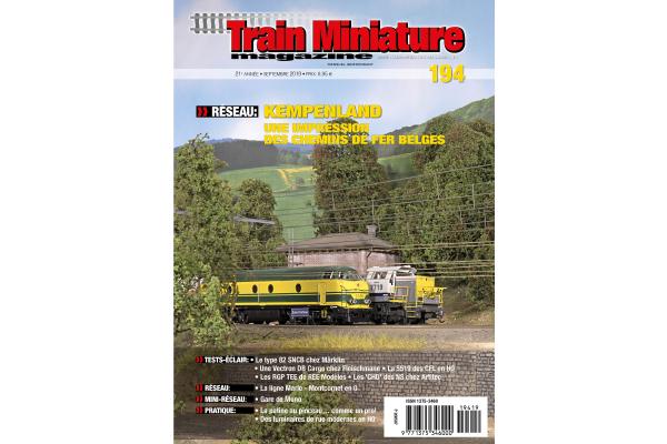 cover Train Miniature Magazine 194 - édition septembre 2019