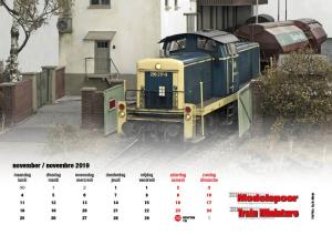 Modelspoormagazine LIGGENDE kalender editie 196_2019