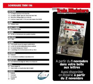 Sommaire TMM 196