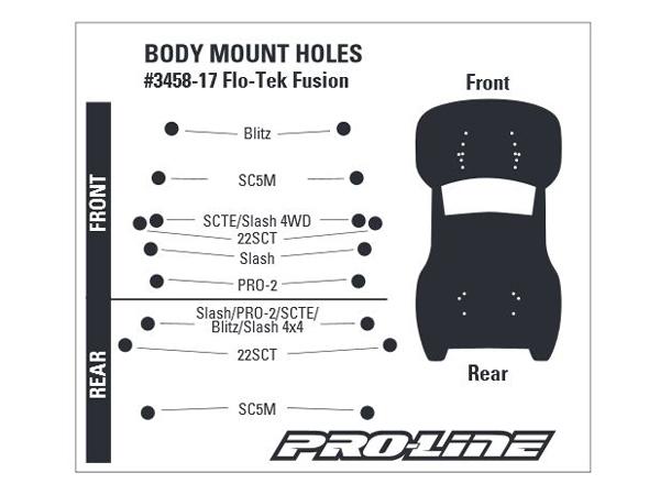 Pro-Line Pre-Cut Flo-Tek Fusion Clear Body PL3458-17