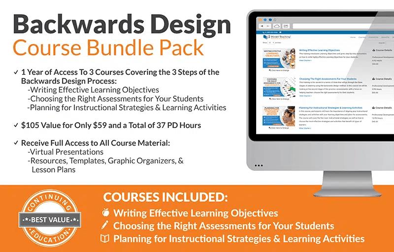 Backwards Design Professional Development Course Bundle