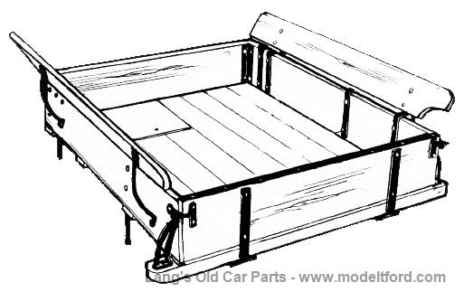 Model T Wooden Pickup Bed, Complete with hardware, PU-BED