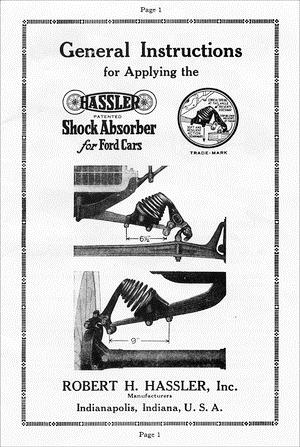 Model T Hassler Shock Absorber General Instructions, C2A
