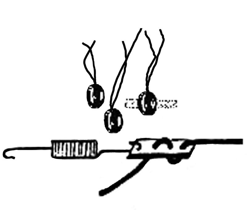 Model T Tail light wire support clip set, 2107X