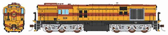 The new Auscision SAR 600 Class loco in HO