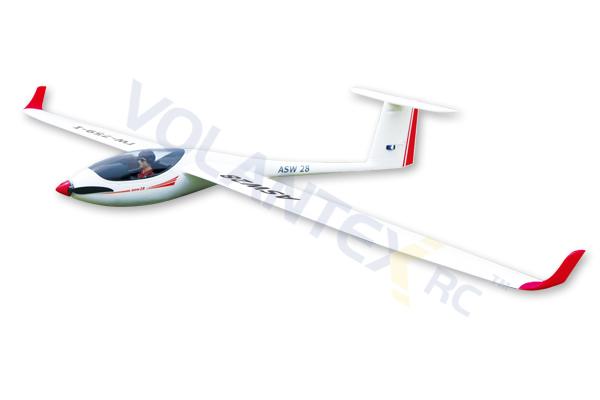 Avión ASW28 2600mm 5 canales con radio fst6 bateria 2200 y