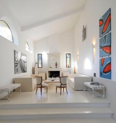 Meilin Bristiel's French farmhouse renovation living room