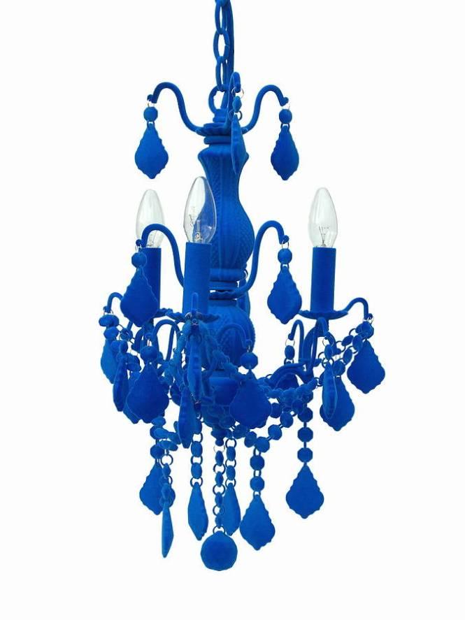 Thomas Vines Blue Chandelier