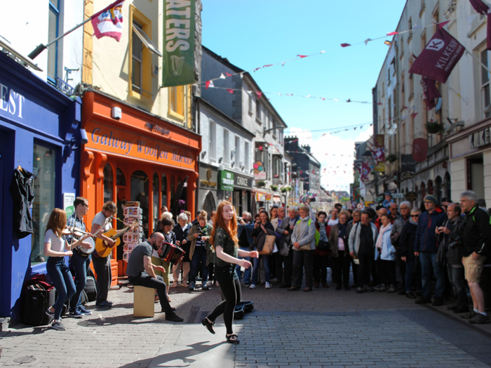 Galway street performer Ireland overview city guide