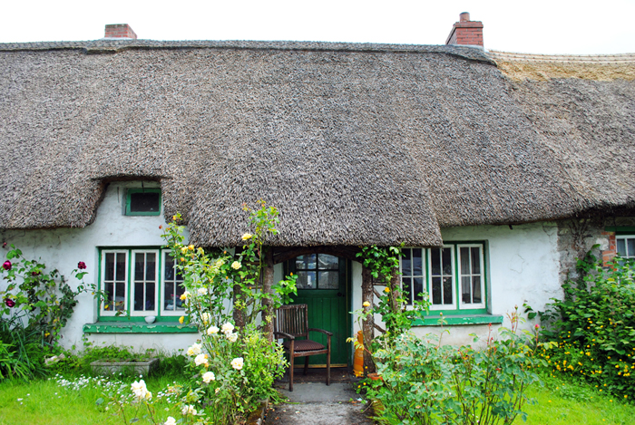 Historic cottages in Adare, Ireland