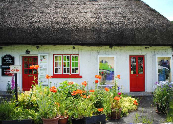 Historic district of Adare in Ireland, County Limerick