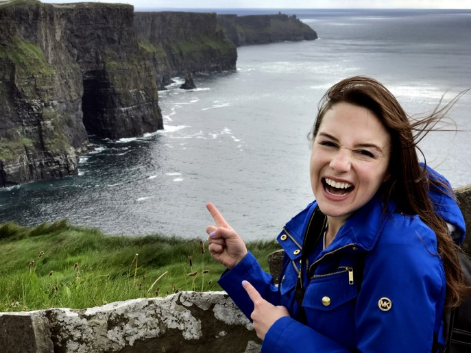 Me at the Cliffs of Moher in Ireland!