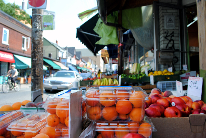 Fresh produce at the Kensington Market in Toronto