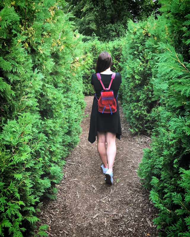 Hedge maze of fun on Toronto Islands Center Island