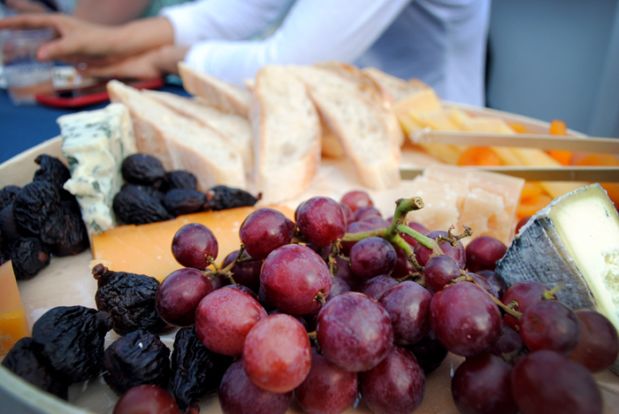 Pastoral Chicago wine and cheese plate on the sunset cruise with Wendella Boat Tours