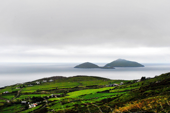 View of the Skelligs from the Ring of Kerry
