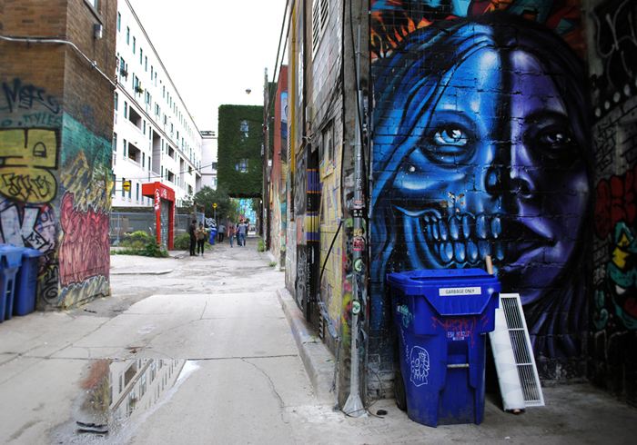 Street art walk in Toronto