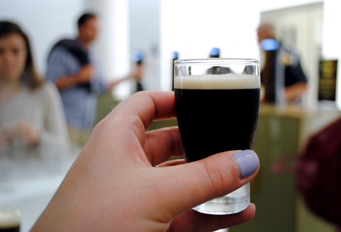 The Tasting Room at the Guinness Storehouse in Dublin