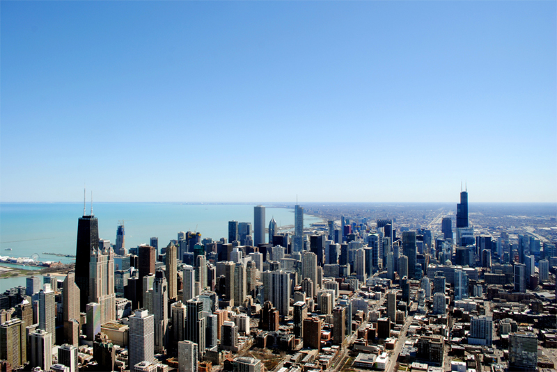 Views from the Chicago Helicopter Experience tour