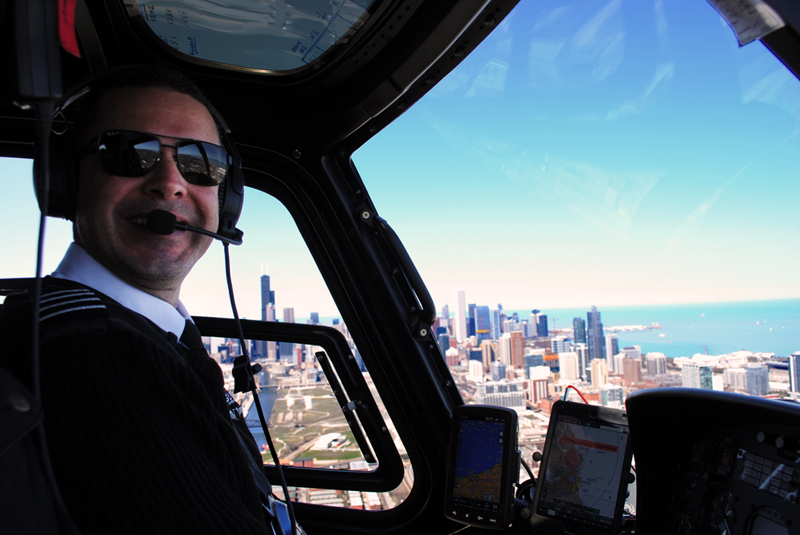 Pilot Jose taking us over the city for a gorgeous view