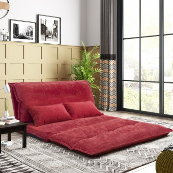Leisure Sofa Bed With Two Pillows
