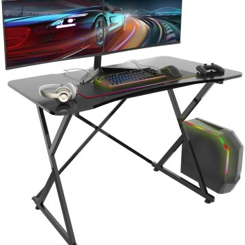 "36"" Converter Gas Spring Stand Up Computer Desk"