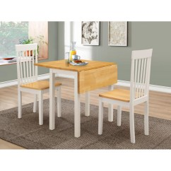 Two Chair Dining Table White Leather Office Australia Atlas Drop Leaf Folding Extending With Chairs Oak Finish