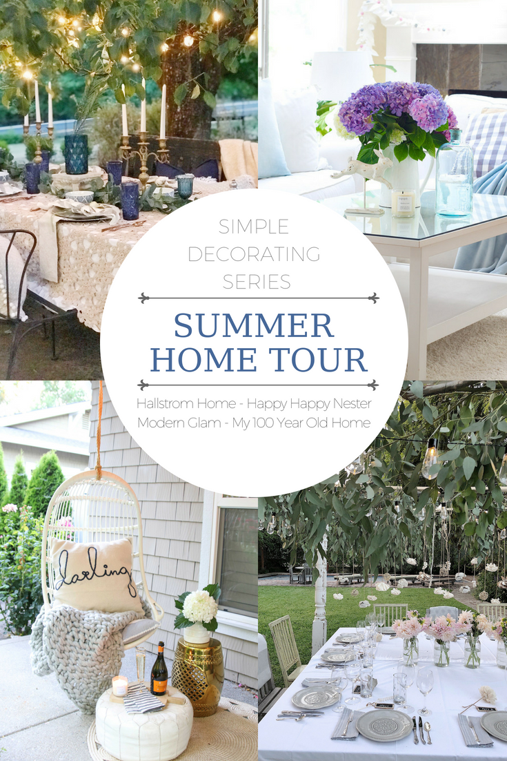 summer home tour with four home images