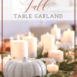 Fall Table Garland Diy Using Fresh Herbs Modern Glam