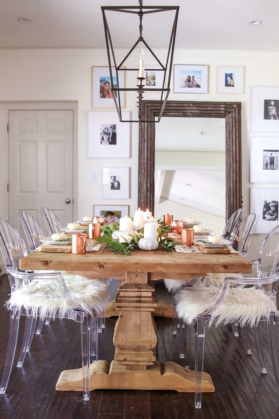 Modern Farmhouse Fall Dining Room Decor - Fall Home Tour