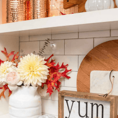 Fall Kitchen Decor Outdoor Bbq Kits Simple Decorating Ideas In The Modern Glam Shelves Styled For