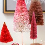 Ombre Bottle Brush Trees A 5 Minute Project Modern Glam