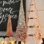Rose Gold Christmas Mantel A Modern Farmhouse Holiday