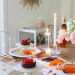 Valentine S Day Table Candlelit Dinner For Two Modern Glam