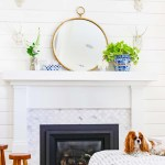 Summer Mantel Decor In Blue And White Modern Glam